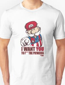 Uncle Mario - I Want You To F*** The Princess T-Shirt