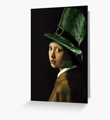 The Girl With the Shamrock Earring Greeting Card