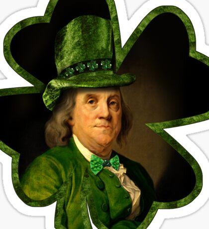 Lucky Ben Franklin Ready for St Patricks Day Sticker