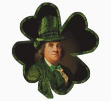 Lucky Ben Franklin Ready for St Patricks Day Kids Tee