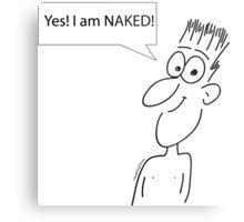 Naked Metal Print