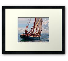 Outbound On The Adventurer Framed Print