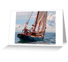 Outbound On The Adventurer Greeting Card