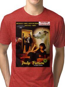 Whippet Art - Pulp Fiction Movie Poster Tri-blend T-Shirt