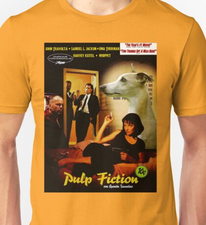 Whippet Art - Pulp Fiction Movie Poster Unisex T-Shirt