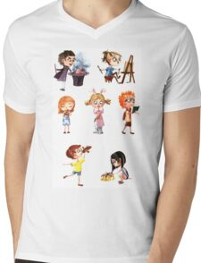 Cute children Mens V-Neck T-Shirt