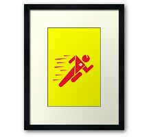 Flash Superhero Running Framed Print