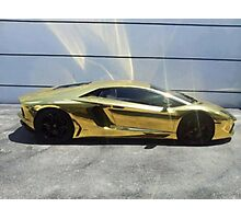 Gold Lambo Photographic Print