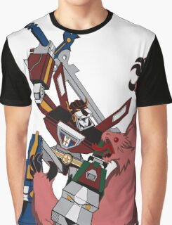 Voltron vs Robeast Cartoon Graphic T-Shirt