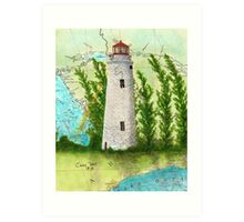 Christian Island Lighthouse Ontario CAN Nautical Chart Cathy Peek Art Print