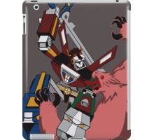 Voltron vs Robeast Cartoon iPad Case/Skin
