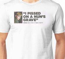 Grimes - I Pissed on a Nuns Grave Unisex T-Shirt