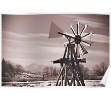 Sandstone Ranch Windmill Poster