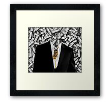Free Yourself Tuxedo With Rope On Neck Framed Print