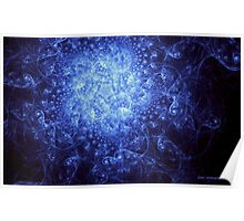 Ink Blue Galaxy Poster