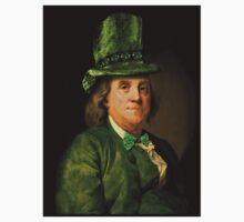 St Patrick's Day for Lucky Ben Franklin   One Piece - Long Sleeve