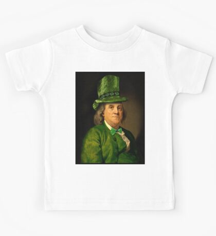 St Patrick's Day for Lucky Ben Franklin   Kids Tee