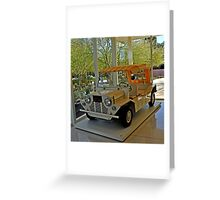 SUNNYLANDS GOLF CART USED BY PRESIDENTS AND DIGNITARIES Greeting Card