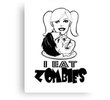 """I Eat Zombies"" graphic Canvas Print"