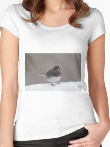 Snowing again Women's Fitted Scoop T-Shirt