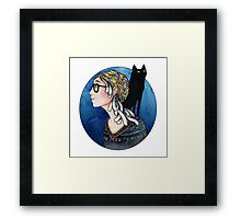The Watcher and the Dreamer: color Framed Print