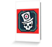 Hat Trick Skull  Greeting Card