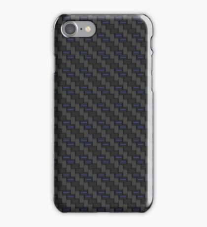 Carbon fibre - blue wire reinforcing iPhone Case/Skin