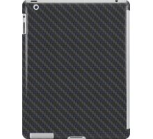 Carbon fibre - blue wire reinforcing iPad Case/Skin