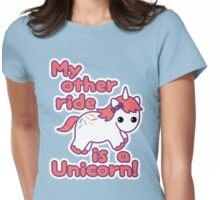 Unicorn Ride Womens Fitted T-Shirt
