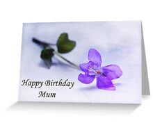 Violet Happy Birthday Mum Greeting Card