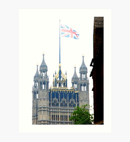 Parliament on the Royal wedding day of Prince William & Kate Art Print
