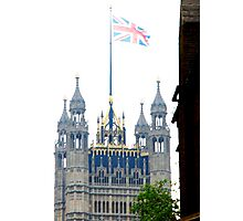 Parliament on the Royal wedding day of Prince William & Kate Photographic Print