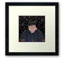 George R.R. Partyin' Framed Print