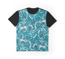Wavy Seamless Pattern Graphic T-Shirt