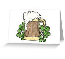 Beer Mug in Cartoon Style Greeting Card