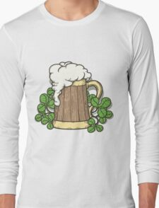 Beer Mug in Cartoon Style Long Sleeve T-Shirt