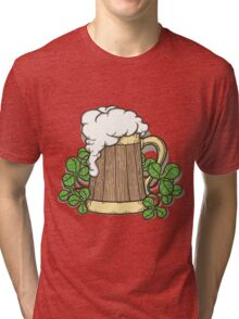 Beer Mug in Cartoon Style Tri-blend T-Shirt