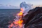 Kilauea Volcano Lava Flow Sea Entry 3- The Big Island Hawaii by Brian Harig