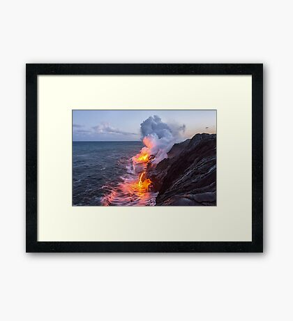 Kilauea Volcano Lava Flow Sea Entry 3- The Big Island Hawaii Framed Print