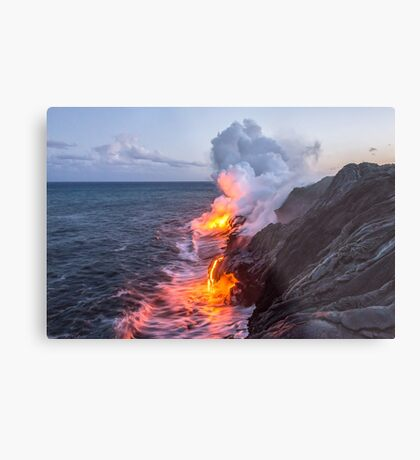 Kilauea Volcano Lava Flow Sea Entry 3- The Big Island Hawaii Metal Print
