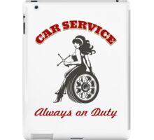 Car Service Retro Poster iPad Case/Skin