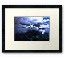 Lugia accros the sea Framed Print