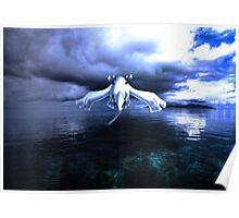 Lugia accros the sea Poster