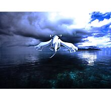 Lugia accros the sea Photographic Print