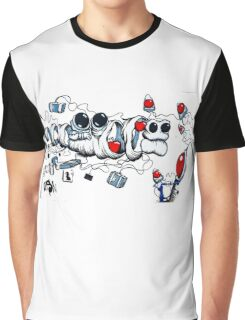 Contemporary Art Graffiti Graphic T-Shirt
