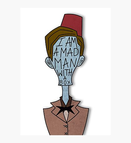 Mad man with a box Photographic Print