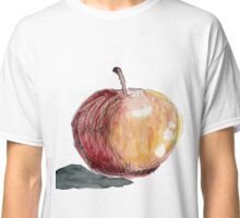 Apfel 1 with black background Classic T-Shirt