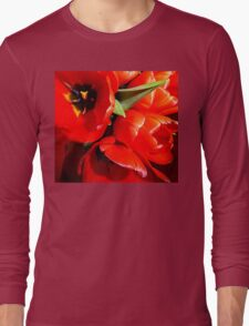Flaming Tulips Long Sleeve T-Shirt
