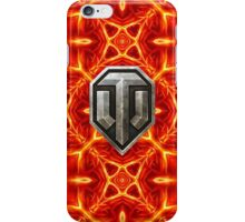 World of Tanks (WoT) logo with beautiful fire pattern iPhone Case/Skin