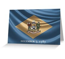 Delaware Coat of Arms over State Flag Greeting Card